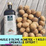 Offre 1 huile d'olive achetée = 1 kilo de grenaille offert !!!