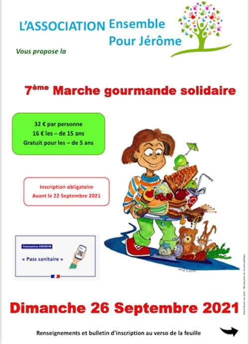 L'ensemble de l'équipe de la Ferme Reymann, soutient l'association Ensemble pour Jérôme Gagnez deux places pour la 7ème Marche gourmande solidaire de l'association simplement en effectuant une réservation sur notre site.